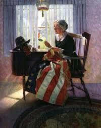 WordPress Norman Rockwell flag picture